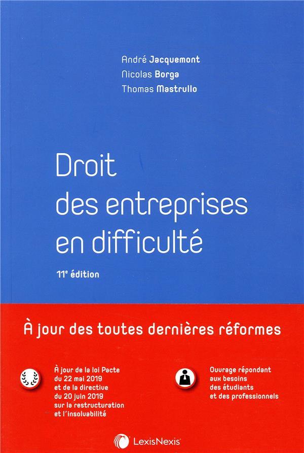 Droit des entreprises en difficulté (11e édition)
