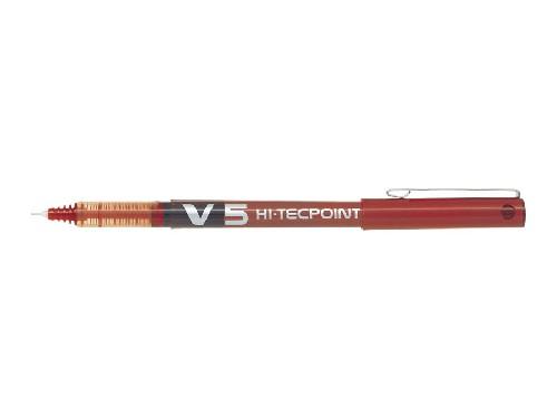 Roller encre liquide - PILOT® - Hi-Tecpoint V5 - Rouge - Pointe fine