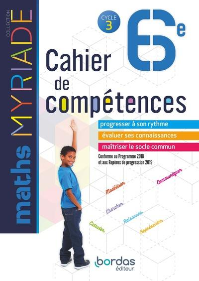 MYRIADE ; mathématiques ; 6e ; cahier d'activités (édition 2018)