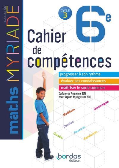 - MYRIADE  -  MATHEMATIQUES  -  6E  -  CAHIER D'ACTIVITES (EDITION 2018)