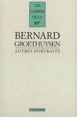 Vente Livre Numérique : Autres portraits  - Bernard Groethuysen