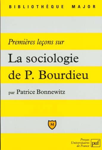 Premieres lecons sur la sociologie de p.bourdieu