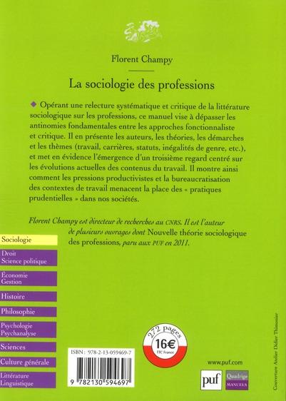 La sociologie des professions (2e édition)