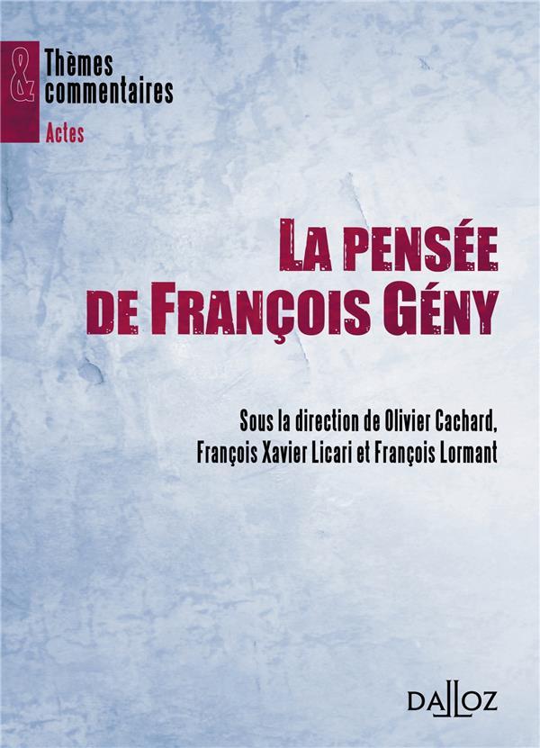 La pensée de François Geny