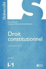 Vente Livre Numérique : Droit constitutionnel - 32e édition  - Pierre Pactet - Ferdinand Mélin-Soucramanien