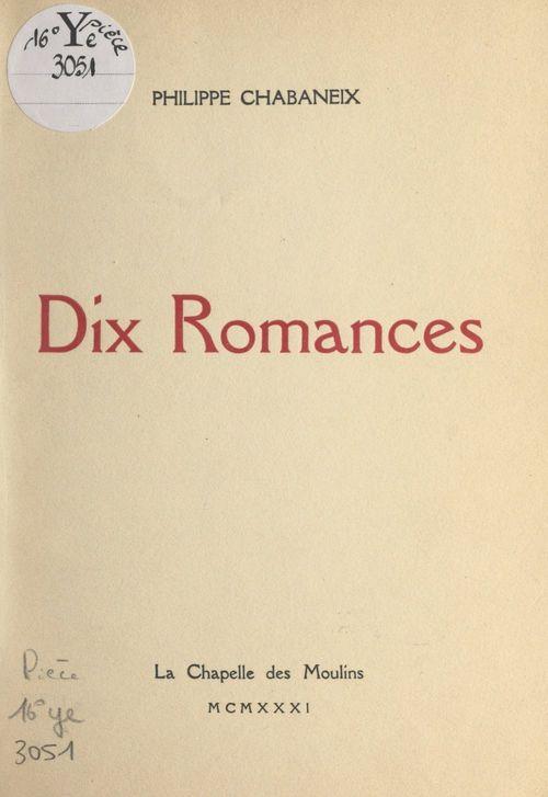 Dix romances
