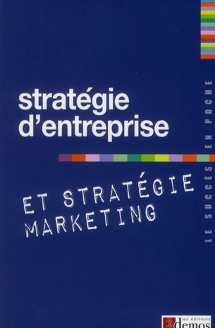 Strategie D'Entreprise Et Strategie Marketing