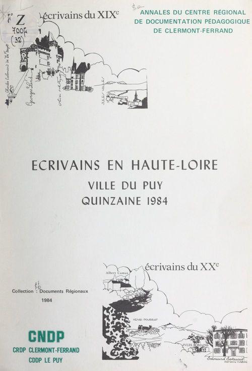 Écrivains en Haute-Loire