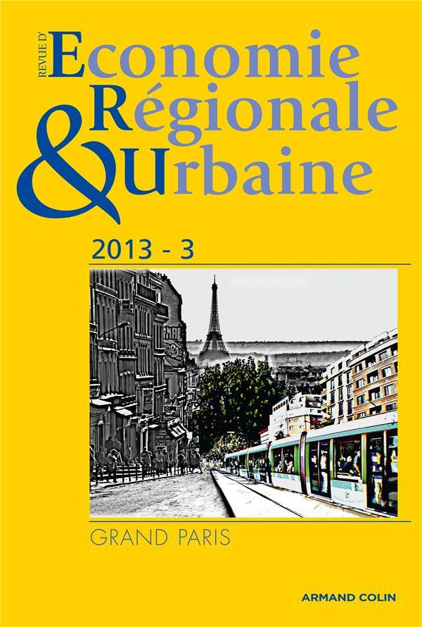 revue d'économie régionale et urbaine n.3 ; Grand Paris