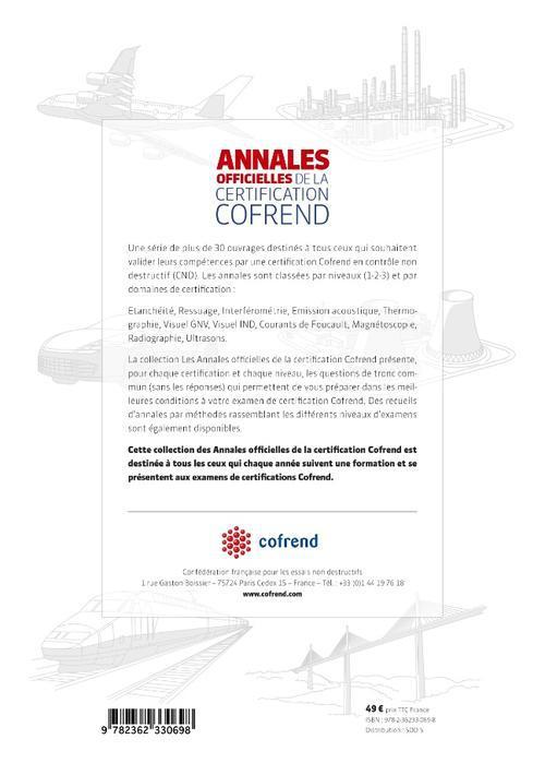 Annales officielles de la certification Cofrend ; ressuage ; niveau 3 ; questionnaire tronc commun