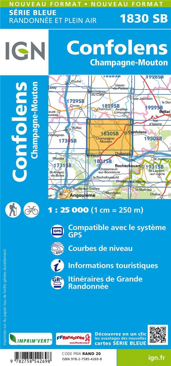 1830SB ; Confolens, Champagne-Mouton (édition 2018)