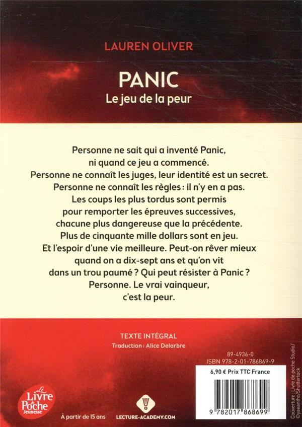 Panic ; le jeu de la peur