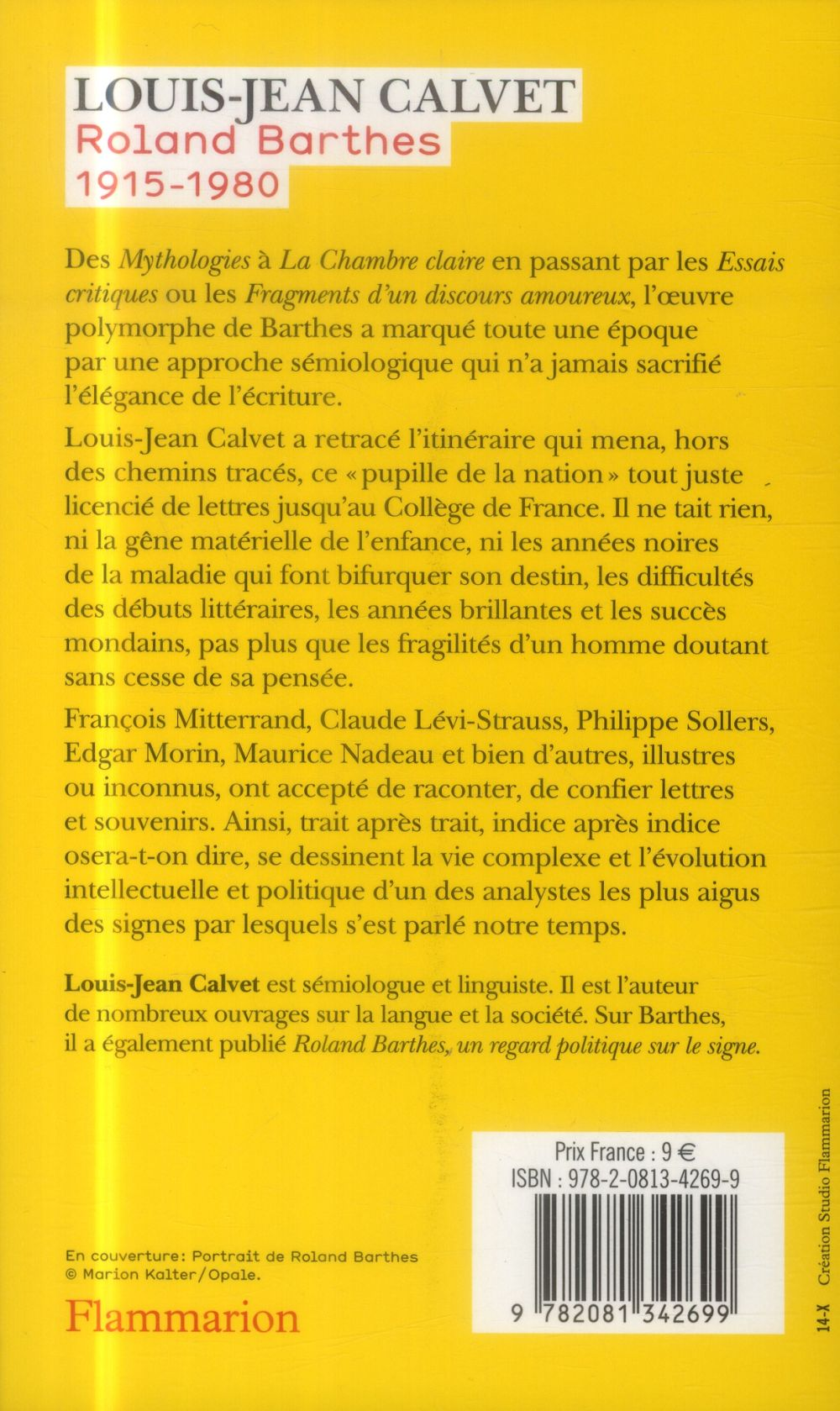 Roland Barthes ; 1915 - 1980