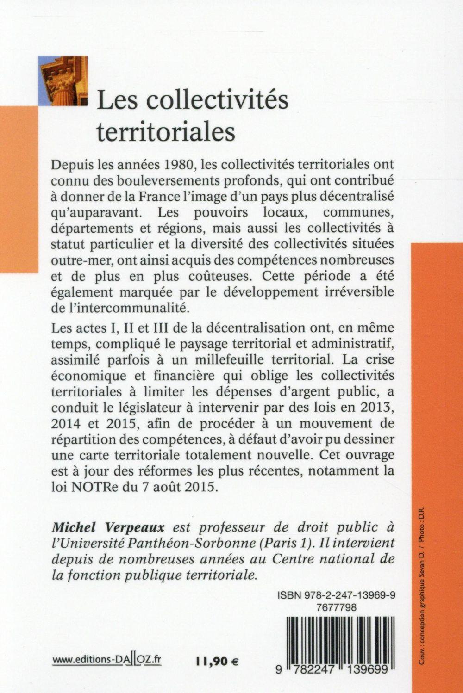 Les collectivités territoriales en France (5e édition)