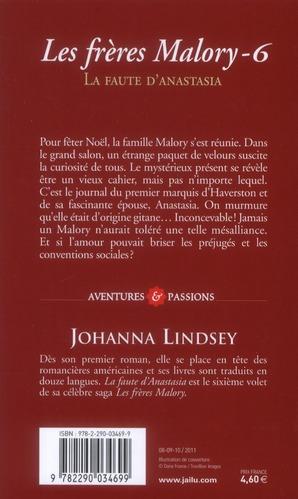 Les frères Malory t.6 ; la faute d'Anastasia