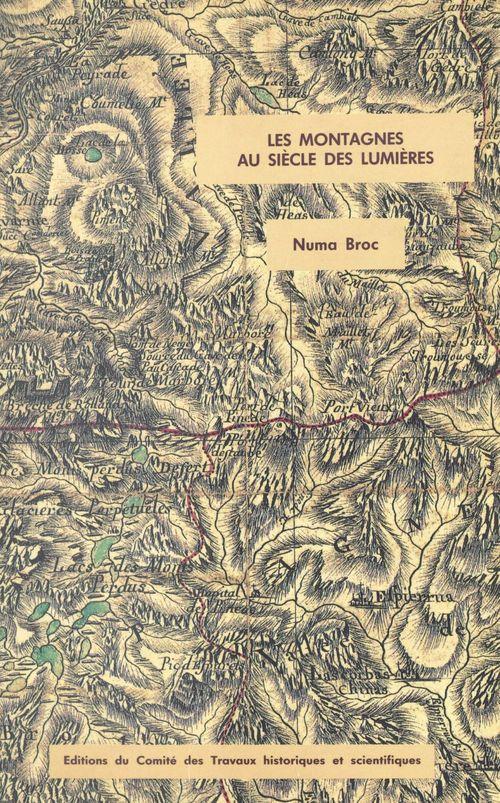 Montagnes au siecle des lumieres perception  et representation memoires n?4
