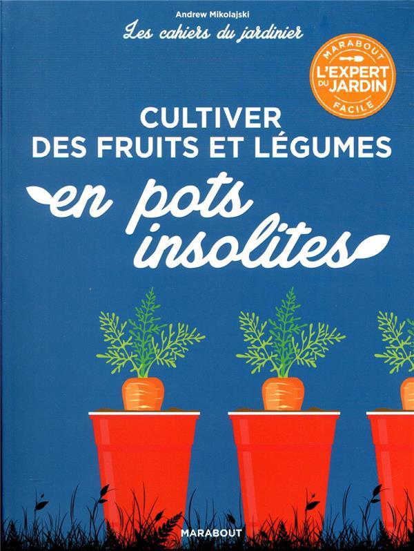 Les cahiers du jardinier ; cultiver des fruits et légumes en pots insolites