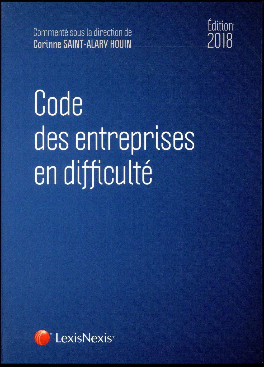 Code des entreprises en difficulté (édition 2018)