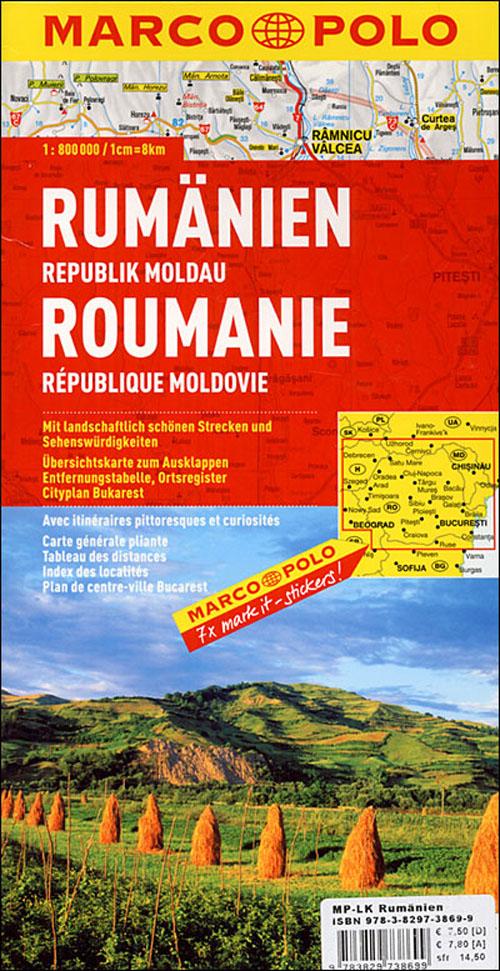 Roumanie, republique de moldavie;   euro carte marco polo