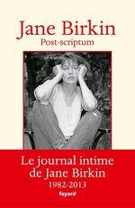 Vente EBooks : Post-scriptum  - Jane Birkin