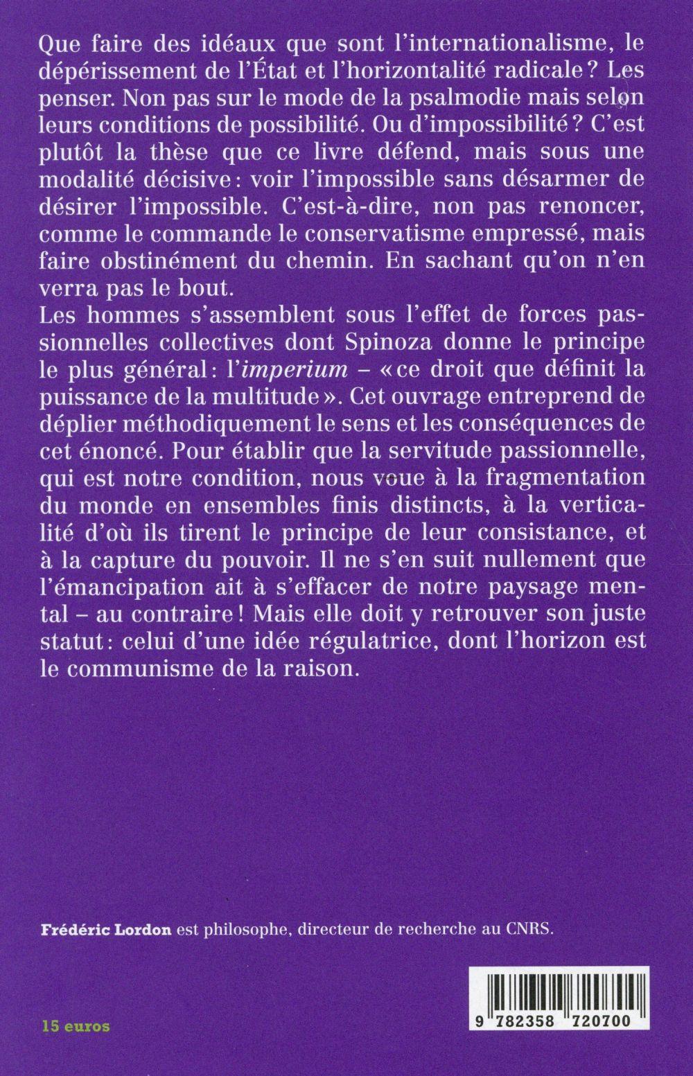 Imperium ; structures et affects des corps politiques