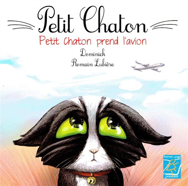 Petit chaton prend l'avion