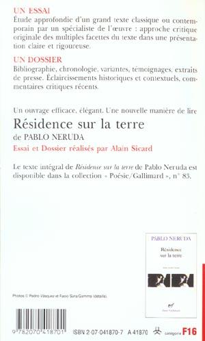 residence sur la terre de pablo neruda (essai et dossier)