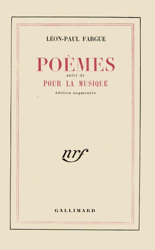 Poèmes / Pour la musique