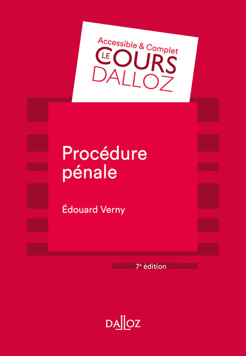 Procédure pénale - 7e ed.