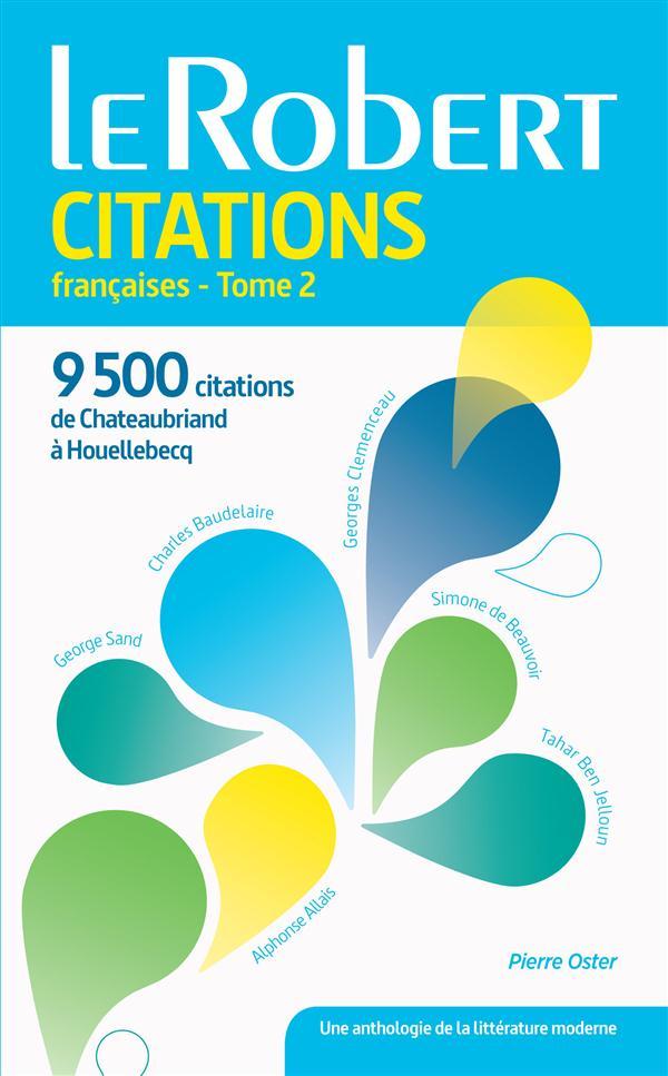 DICTIONNAIRE LE ROBERT CITATIONS FRANCAISES T.2 (EDITION 2015)