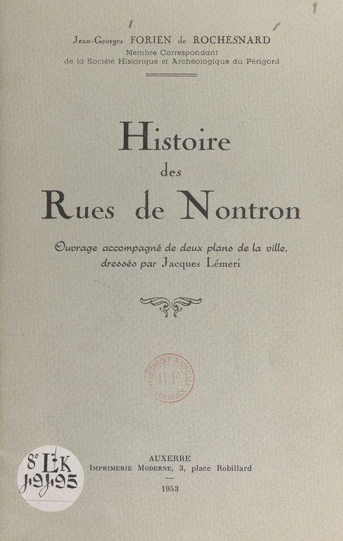 Histoire des rues de Norton