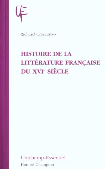 histoire de la litterature francaise du xvi siecle