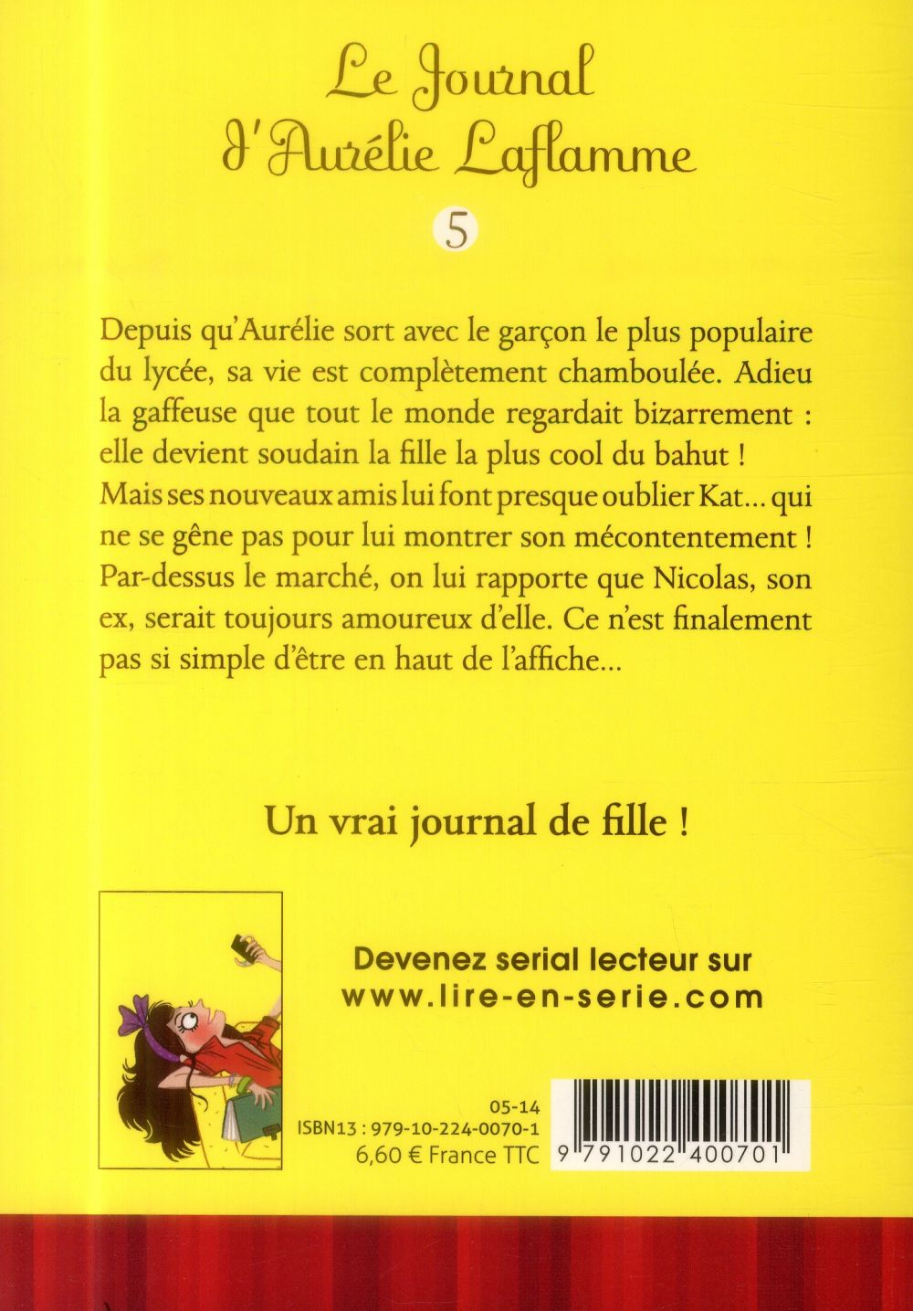 Le journal d'Aurélie Laflamme T.5 ; championne