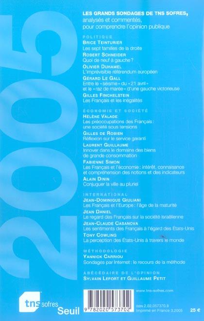 L'etat de l'opinion (2005) (édition 2005)