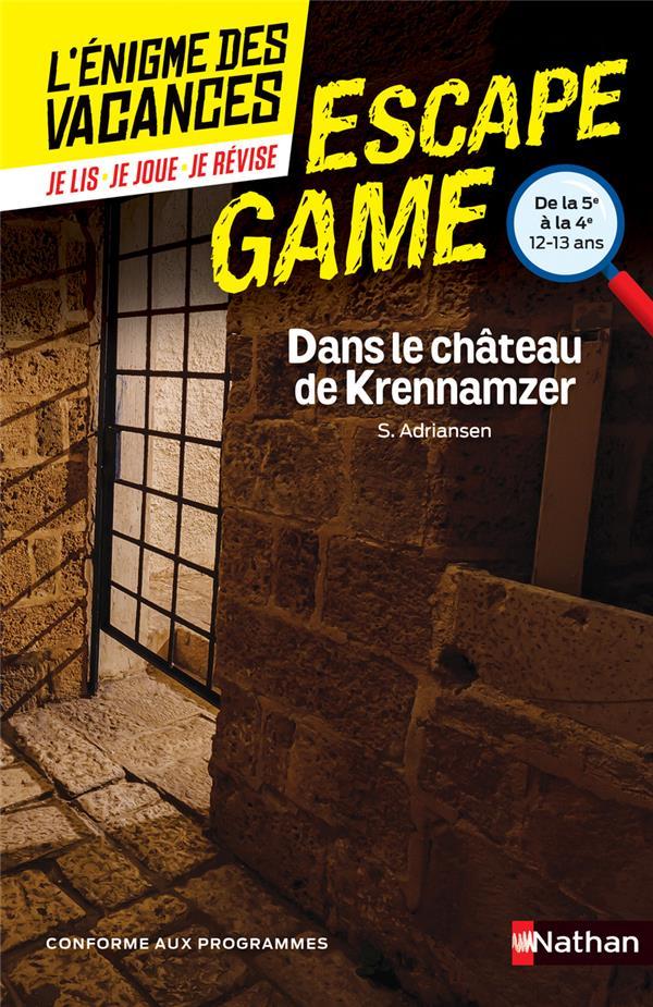 L'énigme des vacances ; escape game ; 5e/4e ; dans le château de Krennamzer
