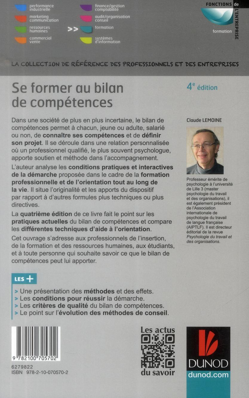 Se former au bilan de compétences (4e édition)
