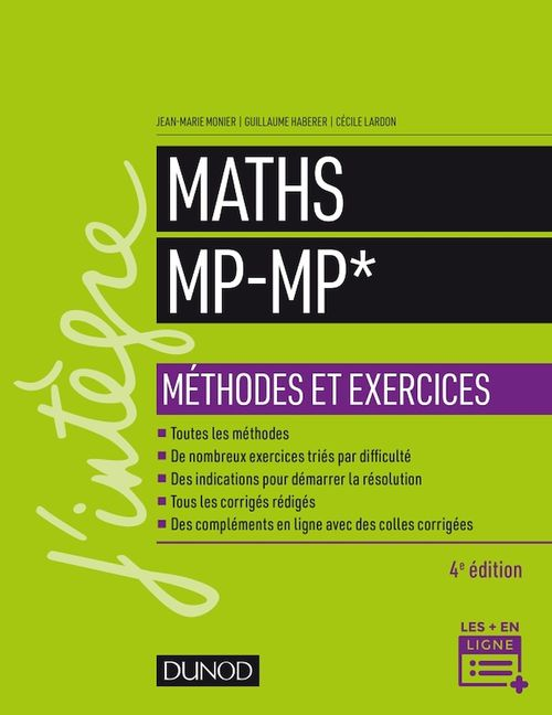 Maths méthodes et exercices MP (4e édition)