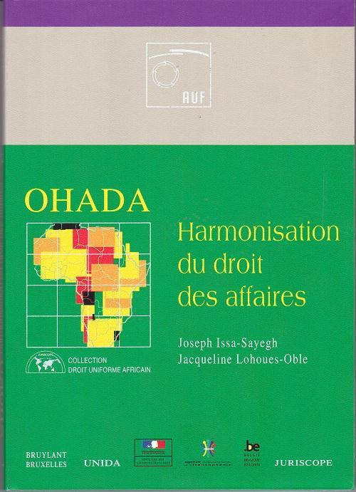 Ohada ; Harmonisation Du Droit Des Affaires