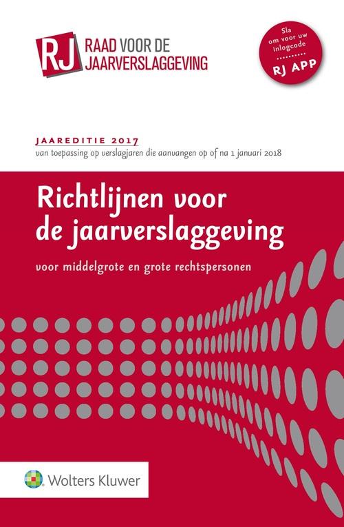 Richtlijnen voor de jaarverslaggeving, - 2017