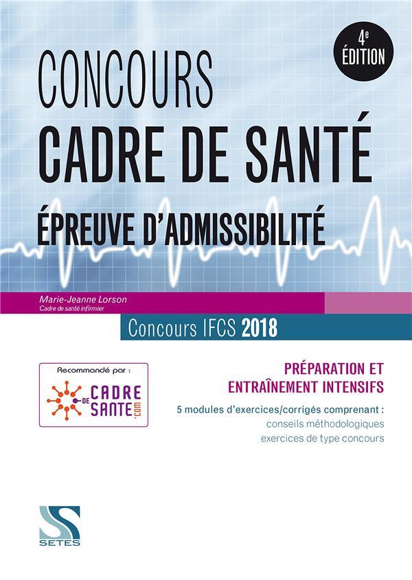 Concours cadre de santé ; IFCS ; épreuve d'admissibilité (concours 2018)