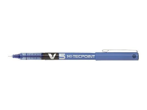 Roller encre liquide - PILOT® - Hi-Tecpoint V5 - Bleu - Pointe fine