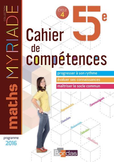 MYRIADE ; mathématiques ; 5e ; cahier d'activités (édition 2018)