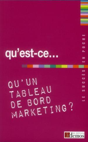Qu'Est-Ce Qu'Un Tableau De Bord Marketing ?