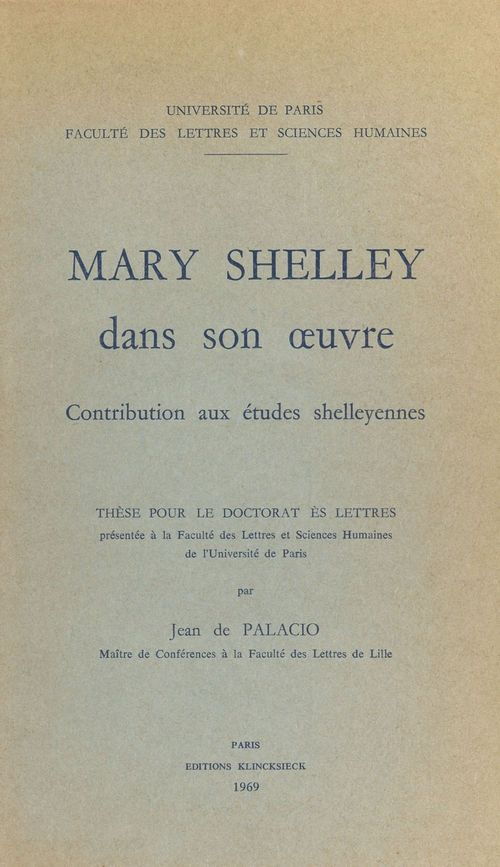 Mary Shelley dans son oeuvre
