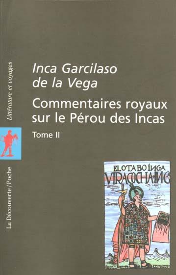 Commentaires royaux sur le perou des incas - tome 2 - vol02