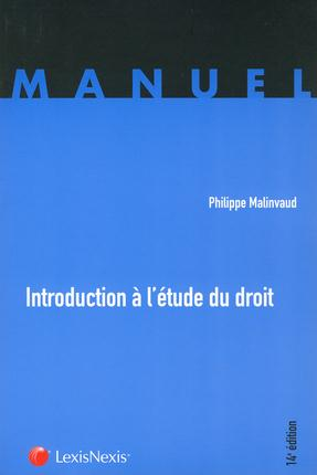Introduction A L'Etude Du Droit (14e Edition)