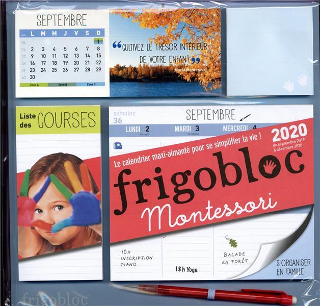 Calendrier De Decembre 2020.Frigobloc Montessori Calendrier D Organisation Familiale