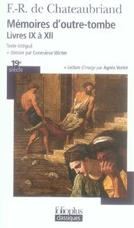 Mémoires d'outre-tombe, livres 9 à 12