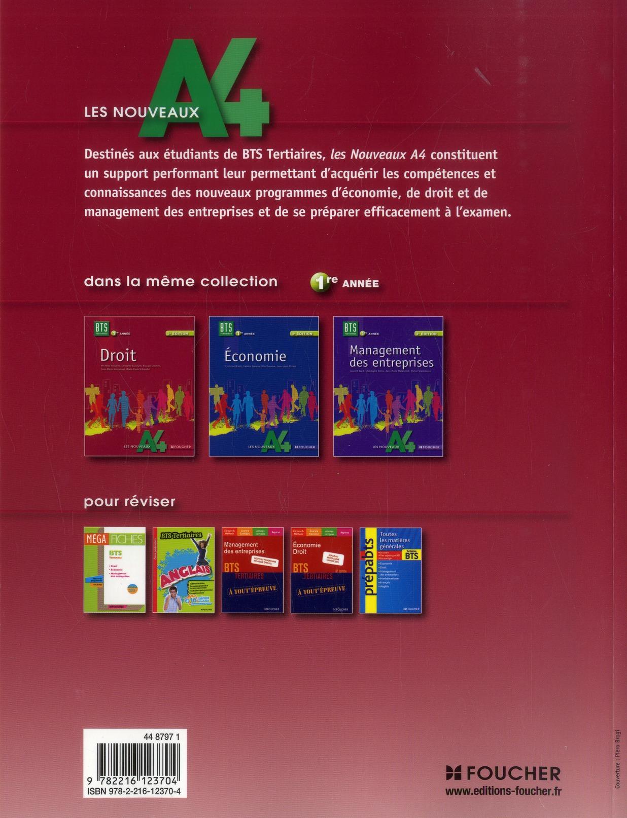LES NOUVEAUX A4 ; droit ; BTS 1ère année (3e édition)