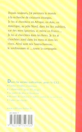 FACETTES ; CE2 ; autruchameau, sardinosaure & compagnie